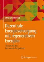 Dezentrale Energieversorgung mit regenerativen Energien PDF
