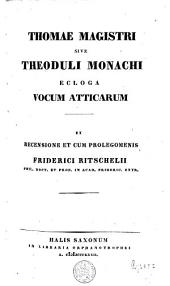 Thomas Magister : Ecloga vocum Atticarum