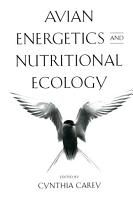 Avian Energetics and Nutritional Ecology PDF