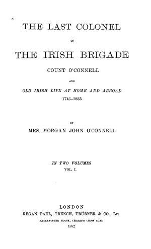 The Last Colonel of the Irish Brigade