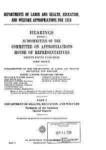 Departments of Labor and Health  Education  and Welfare appropriations for 1978 PDF