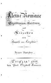 Kleine Romane, Erzählungen, Anecdoten und Miscellen: Band 3