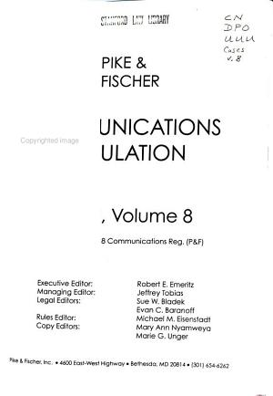 Communications Regulation PDF
