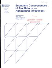 Economic consequences of tax reform on agricultural investment