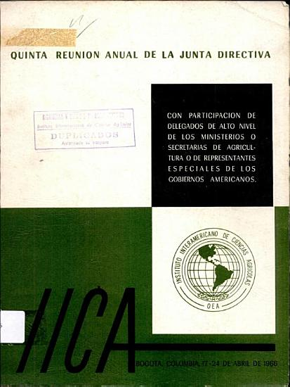 Informe Quinta Reunion Anual de la Junta Directiva PDF