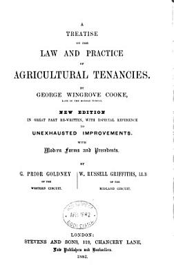 A Treatise on the Law and Practice of Agricultural Tenancies PDF