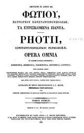 Patrologiae cursus completus ...: Series graeca, Volume 101, Part 1