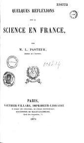 Quelques réflexions sur la science en France