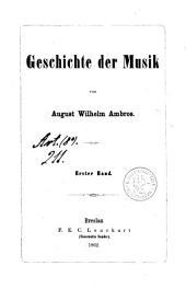 Geschichte der Musik: Band 1