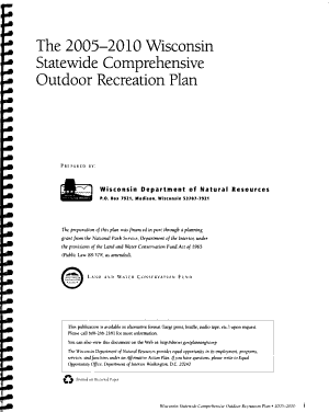 The 2005 2010 Wisconsin Statewide Comprehensive Outdoor Recreation Plan PDF