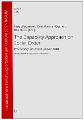 The Capability Approach on Social Order: Proceedings of Unseld Lecture 2010