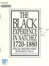 Black Experience in Natchez PDF