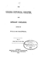 The Virginia Historical Register  and Literary Companion PDF