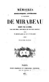 Mémoires biographiques, littéraires et politiques de Mirabeau: Volume2
