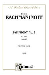Symphony No. 2 in E Minor, Opus 27: Full Orchestra (Miniature Score)