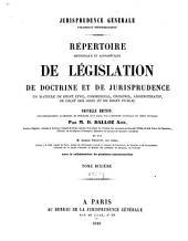 Jurisprudence générale: répertoire méthodique et alphabétique de législation, de doctrine et de jurisprudence en matière de droit civil, commercial, criminel, administratif, de droit des gens et de droit public, Volume10,Partie2