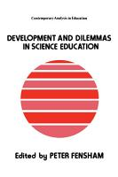 Development and Dilemmas in Science Education PDF