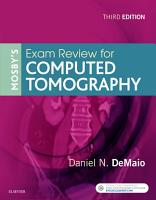 Mosby   s Exam Review for Computed Tomography   E Book PDF