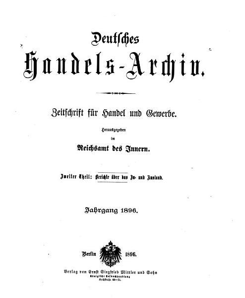 Handels Archiv