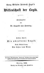 Wissenschaft der logik: Bände 1-2
