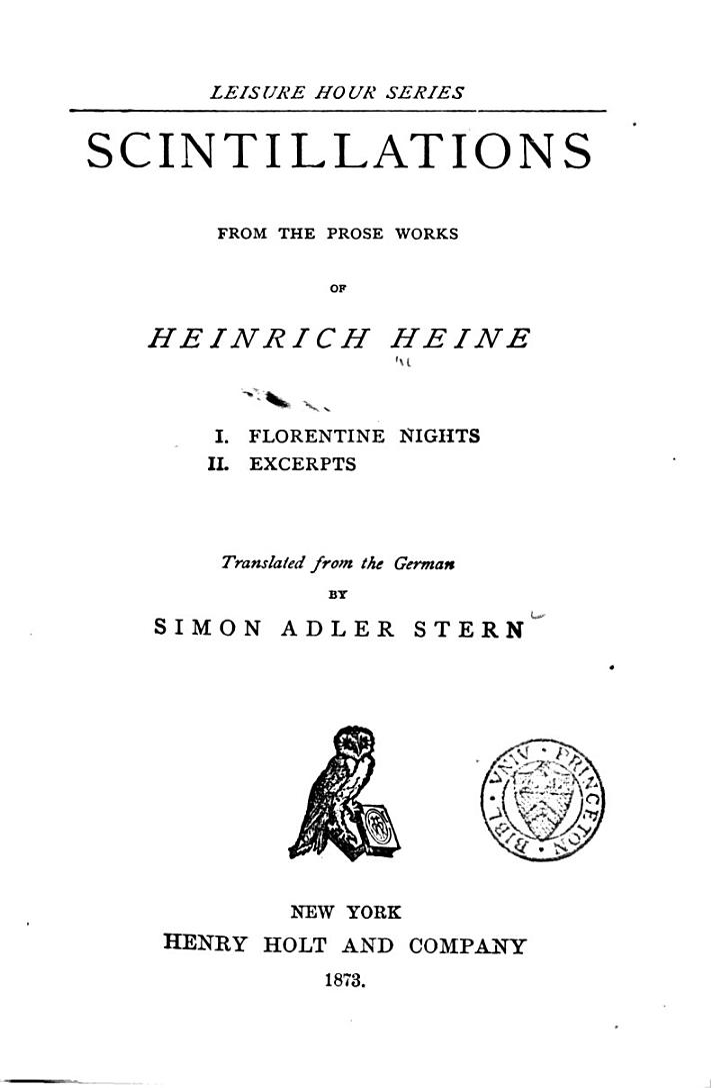 Scintillations from the Prose Works of Heinrich Heine