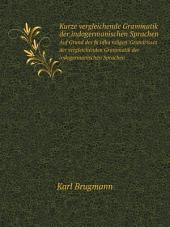 Kurze vergleichende Grammatik der indogermanischen Sprachen: Band 1
