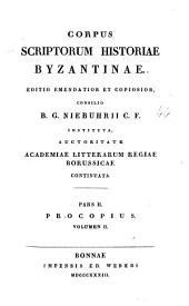 Procopius, ex recensione Guilielmi Dindorfii...
