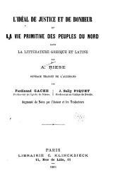 L'idéal de justice et de bonheur et la vie primitive des peuples du Nord dans la littérature greeque et latine