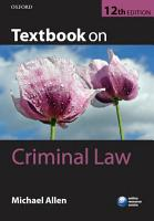 Textbook on Criminal Law PDF