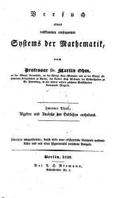 Lehrbuch der niedern Analysis: ¬Zweyter ¬Theil, Algebra und Analysis des Endlichen enthaltend. 2