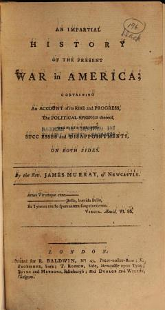 An Impartial History of the War in America PDF