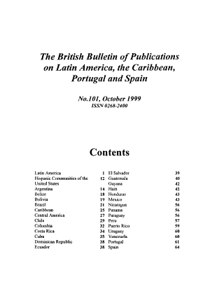 British Bulletin of Publications on Latin America  the Caribbean  Portugal  and Spain PDF