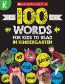 100 Words for Kids to Read in Kindergarten Book