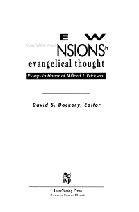 New Dimensions in Evangelical Thought PDF