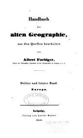 Handbuch der Alten Geographie: Band 3