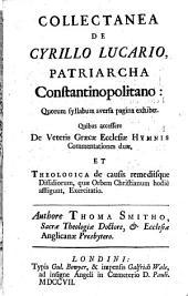 Collectanea de Cyrillo Lucario