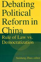 Debating Political Reform in China PDF