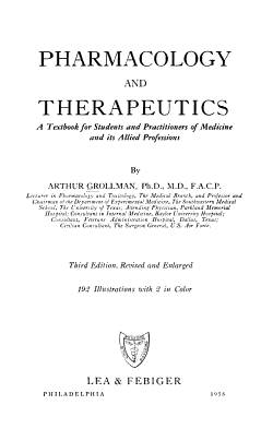 Pharmacology and Therapeutics PDF