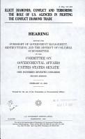 Illicit Diamonds  Conflict and Terrorism PDF