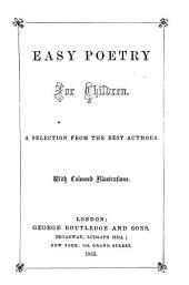 Easy poetry for children, a selection