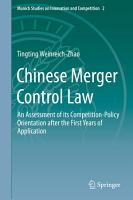 Chinese Merger Control Law PDF