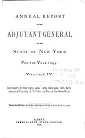 Annual Report of the Adjutant-General of the State of New York for the Year ...: The 13th, 14th, 15th, 16th and 18th regiments of cavalry, N.Y. vol. 1895: Issue 4