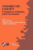 Towards the E Society PDF