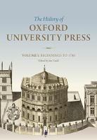 History of Oxford University Press  Volume I PDF