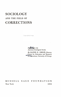Sociology and the Field of Corrections