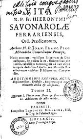 Vita R. P. F. Hyeronimi Savonarola.... praedicatorum