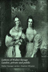 Letters of Walter Savage Landor: Private and Public