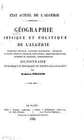 Géographie physique et politique de l'Algérie ...