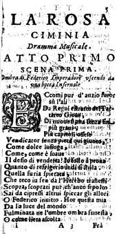 La Rosa ciminia dramma tragicomico opera del sig. Gio. Domenico Pucitta canonico della cathedrale di Viterbo. Dedicata all'illustriss. sig. marchese Andrea Maidalchini