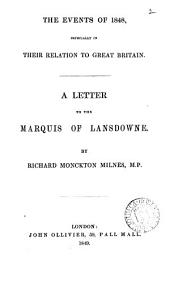 The events of 1848, especially in their relation to Great Britain, a letter: Volume 2